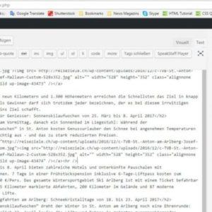Article Editing in WordPress