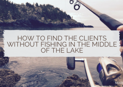 How to find the clients without fishing in the middle of the lake